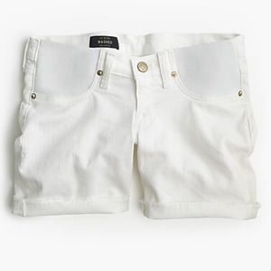J. Crew white denim maternity shorts 28